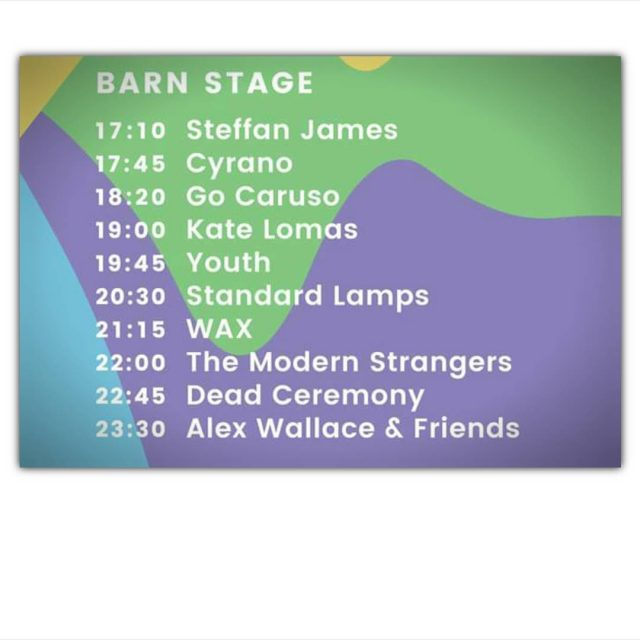 And here is the livestockfestival line up on the Barnhellip