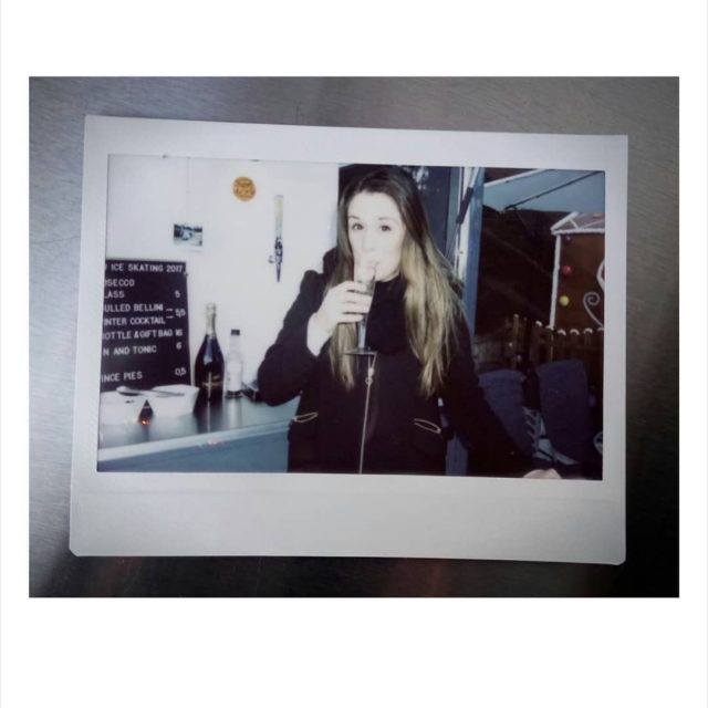 The real Miss B executing quality controlPolaroid theimpossibleproject takeonefortheteam